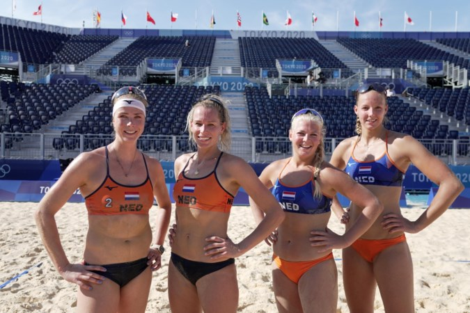 Olympisch beachvolleybal: brandend zand en nergens publiek