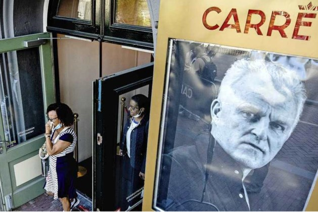 Wachtrij afscheid De Vries gesloten, familie geraakt door grote belangstelling bij Carré