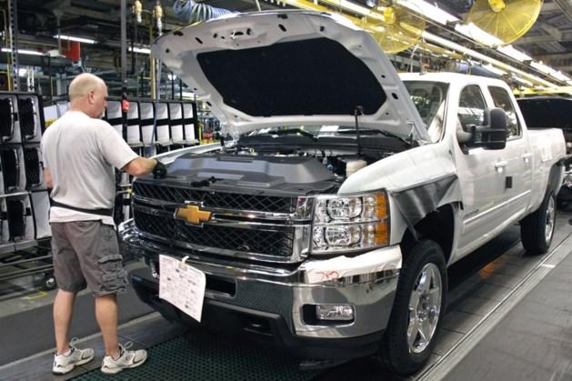 GM legt productie pick-uptrucks stil om chiptekort