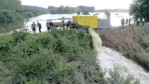 Video: Retentiegebied Maas tussen Roermond en Haelen wordt leeggepompt