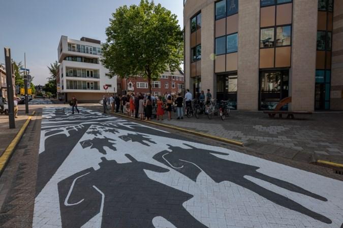 Gigantisch kunstwerk van tachtig meter lang siert Romeins Kwartier in Heerlen