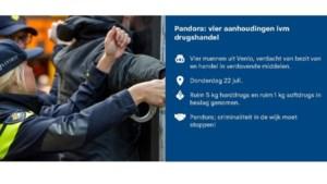Zes kilo drugs aangetroffen in Blerick, vier verdachten aangehouden