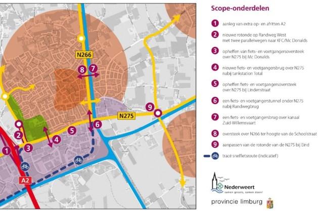 Nieuwe rotonde Nederweert verschuift mogelijk richting Randweg Zuid