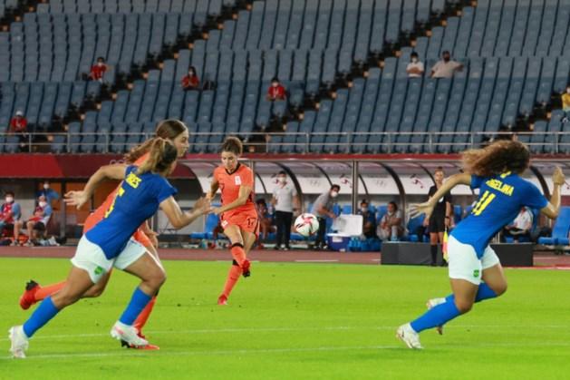 Voetbalsters Oranje spelen met drie Limburgsen in basis gelijk tegen Brazilië