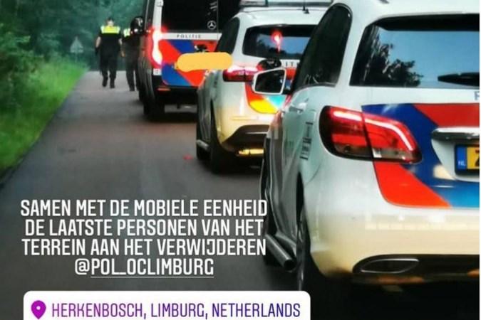 Politie maakt einde aan illegaal feest Herkenbosch