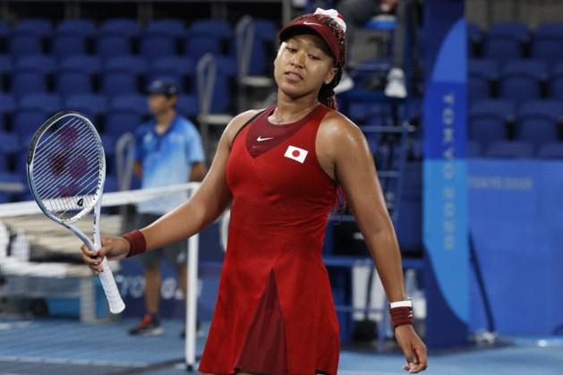 Japanse favoriete Osaka uitgeschakeld op olympisch tennistoernooi
