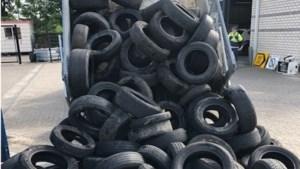 Gedumpte autobanden ware plaag voor Beek: 250 stuks in paar weken tijd