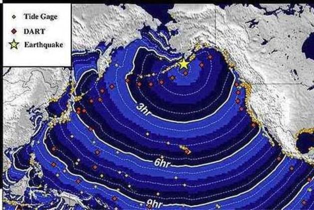 Waarschuwing voor tsunami na zware aardbeving bij Alaska