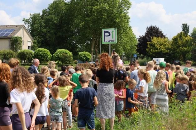 Kinderen basisschool Meerlo ontwerpen drie verkeersborden met behulp van gemeente Horst aan de Maas