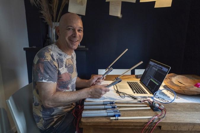 Geleense drummer Jos ontwerpt uniek muziekinstrument voor kinderen met meervoudige handicap