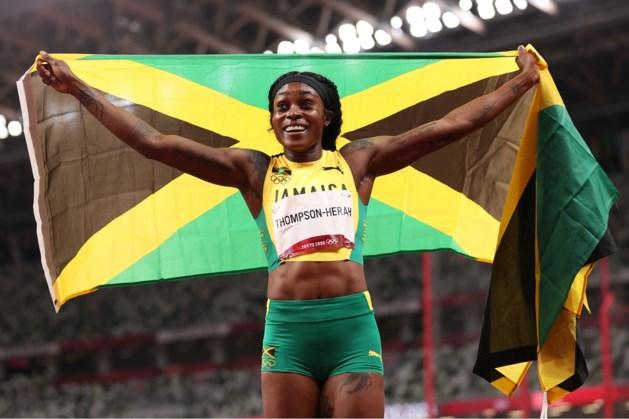 Jamaicaanse Thompson-Herah spurt ook naar goud op 200 meter
