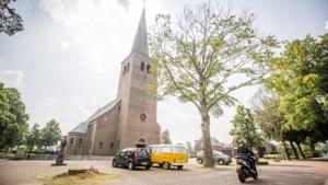 De historische beuken bij de kerk in Grashoek zijn de dupe van de vele klinkers en moeten gekapt worden