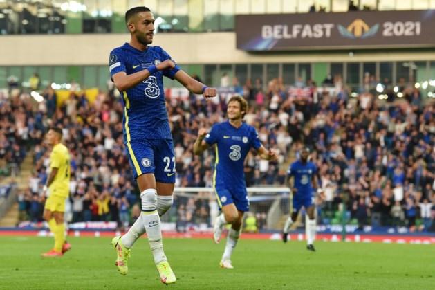 Chelsea wint Supercup, Hakim Ziyech scoort en valt geblesseerd uit