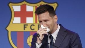 Zakdoekje van huilende Messi te koop via veiling