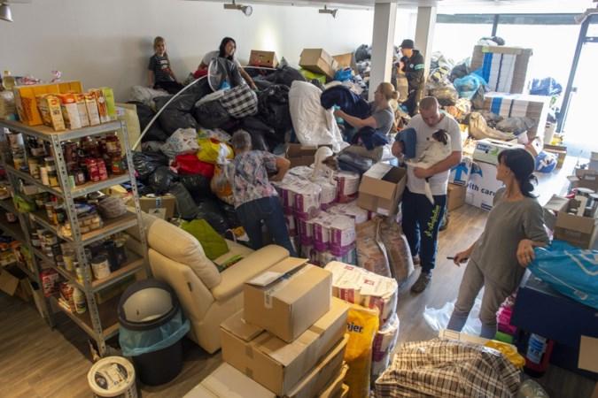 Vrijwilligersgroep in Geleen en Heerlen overspoeld met hulpgoederen, niet alleen voor slachtoffers hoogwater