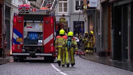 Brandweer rukt uit voor brand in studentenwoning in centrum Maastricht