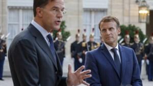 Rutte overlegt met Macron over voorkomen vluchtelingenstroom