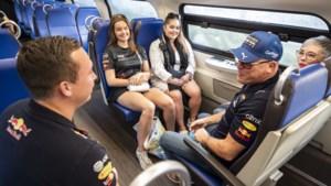 Bijna zes uur in de trein om glimp van Max Verstappen op te vangen: 'Wat die jongen doet, is geweldig'