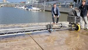 Graffitikunst in Venlo door bestrating computergestuurd schoon te spuiten
