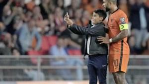 Jonge supporter scoort tijdens wedstrijd 'selfie' met Depay