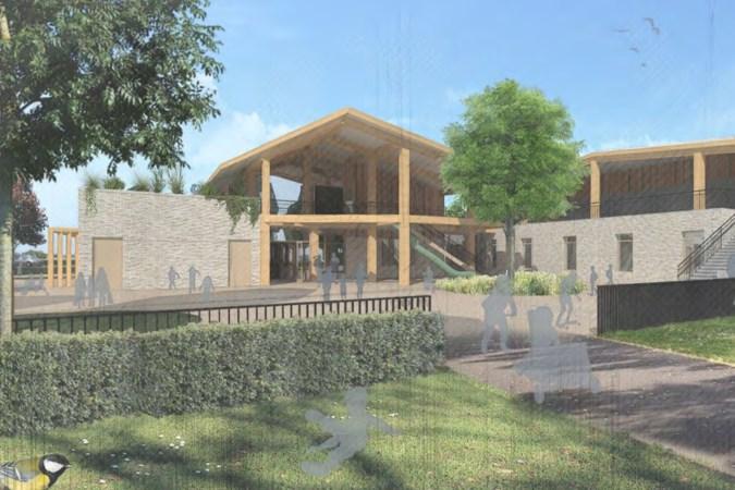 Het ontwerp voor de nieuwe fusieschool in Ittervoort is een pareltje, met glijbanen en speelse extra's. Klein detail: het is te duur