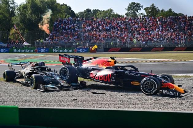 Verstappen bestraft na crash: volgende race 3 plekken naar achteren
