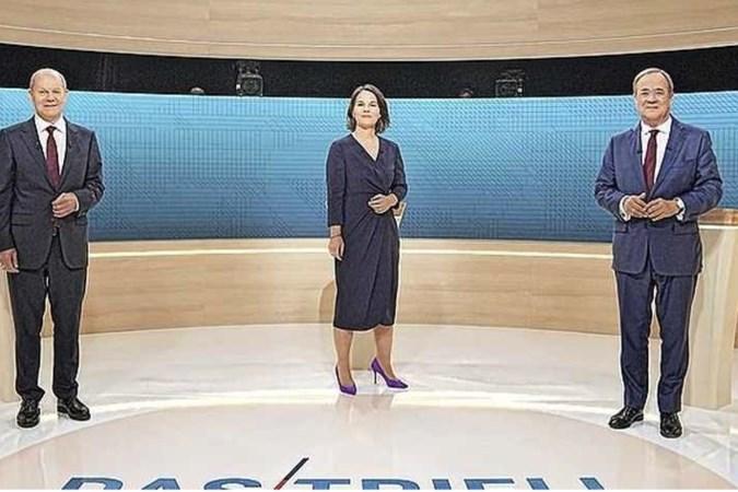 Duits tv-debat tussen drie kanselierskandidaten verzandt in duel