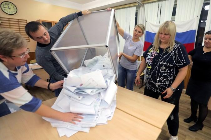 Partij van Vladimir Poetin aan kop na eerste resultaten parlementsverkiezingen Rusland