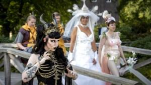 Fantasy Festival Elfia in Arcen: Zelfs de hond draagt vleermuisvleugels op zijn rug