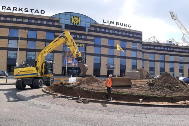 Herinrichting rotonde bij Parkstad Limburg Stadion van start