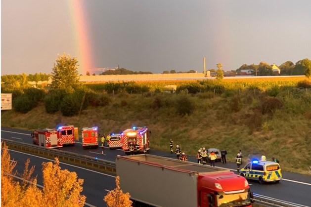 Auto raakt total loss bij ernstig ongeluk op A74