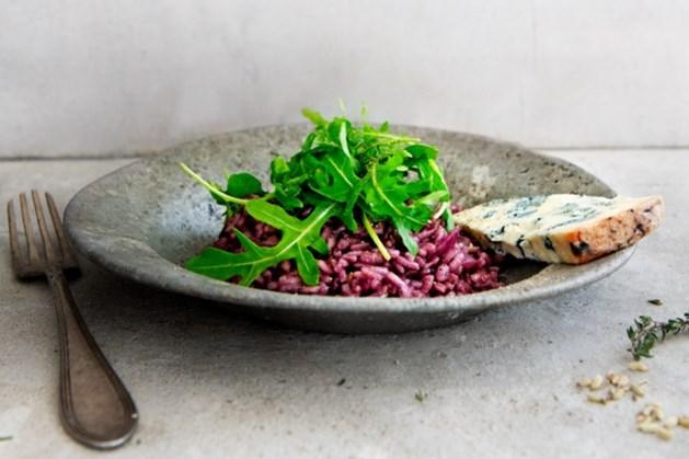 Geduld is een schone zaak bij deze risotto met rode wijn en gorgonzola van Janneke Philippi