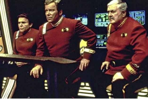 Star Trek-legende Captain Kirk écht de ruimte in