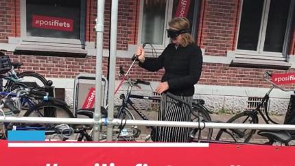 Laat Maastrichtenaar fiets nog rondslingeren op trottoir? Burgemeester neemt geblinddoekt proef op de som