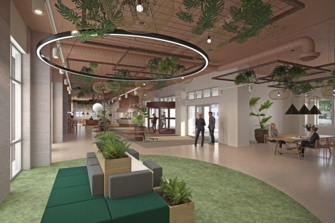 Sittard is binnenkort een rooftopbar, 220 appartementen en een park rijker: zo komt het vernieuwde DSM-complex eruit te zien