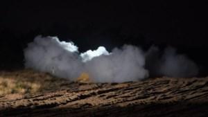 Mogelijk explosieve stof gevonden in garage in Budel; stof tot ontploffing gebracht in Weert