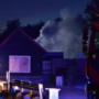 Brand in aanhanger, brandweer voorkomt erger